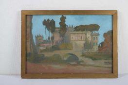 Villa Mills in Rom. August Garbe (Niedersächsischer Kunstmaler, Akademie der bildenden Künste