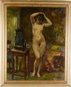 Impressionistischer weiblicher Akt. August Garbe (Niedersächsischer Kunstmaler, Akademie der