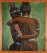 Zwei Afroamerikanerinnen. August Garbe (Niedersächsischer Kunstmaler, Akademie der bildenden