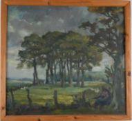 Landschaft bei Isernhagen. August Garbe (Niedersächsischer Kunstmaler, Akademie der bildenden Künste
