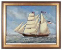 Weyts, Carolus Ludovicus 1828 Ostende - 1875 Antwerpen Seine Schiffsdarstellungen, egal ob auf