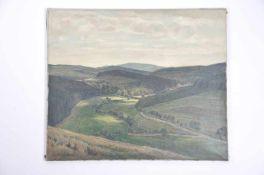 Landschaft mit Wolkenschatten (Sauerland). Willy ter Hell (02.12.1883 Norden - 01.07.1947