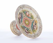 "Porzellan-Tafelaufsatz. Maritimer Dekor in Anlehnung an Schinkels ""Teller mit Meereswesen /"