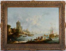 Hafenstadt mit regem Fischertreiben.Johann Christian Brand (15.11.1722 Wien - 12.06.1795 Wien).