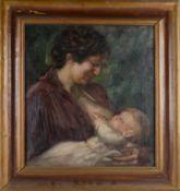 Stillende Mutter.August Garbe (Niedersächsischer Kunstmaler, Akademie der bildenden Künste München