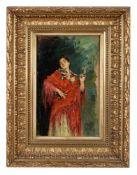 Spanische Tänzerin. Gabriel Puig-Roda (18.03.1865 Tirig - 21.11.1919 Vinaroz). Öl aufHolz, unten