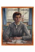 Briefeschreibende junge Frau.August Garbe (Niedersächsischer Kunstmaler, Akademie der bildenden