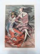 Tanzende Venezianer.Alfonso Amorelli (1898 - Palermo - 1969). Aquarell auf Papier, unten rechts