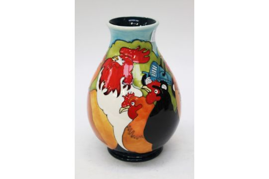 Moorcroft Home To Roost Vase 19 Cm High Approx