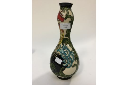Moorcroft Rooster Vase Double Gourd Form 18 Of 50 28 Cm High Approx