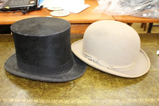A Bennett  amp  Co 1920s silk lined top hat and a Herbert Johnson ... 15df64e8cb0