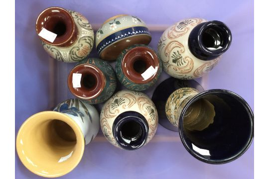 Lovattslangley Stoneware Vases And Bowls Leadless Glaze 19th