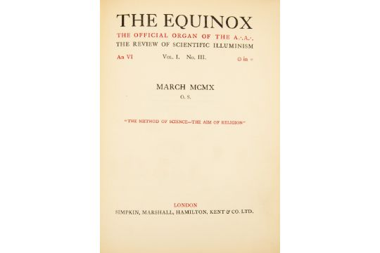Aleister Crowley Occult Magick Thelema Interest The Equinox