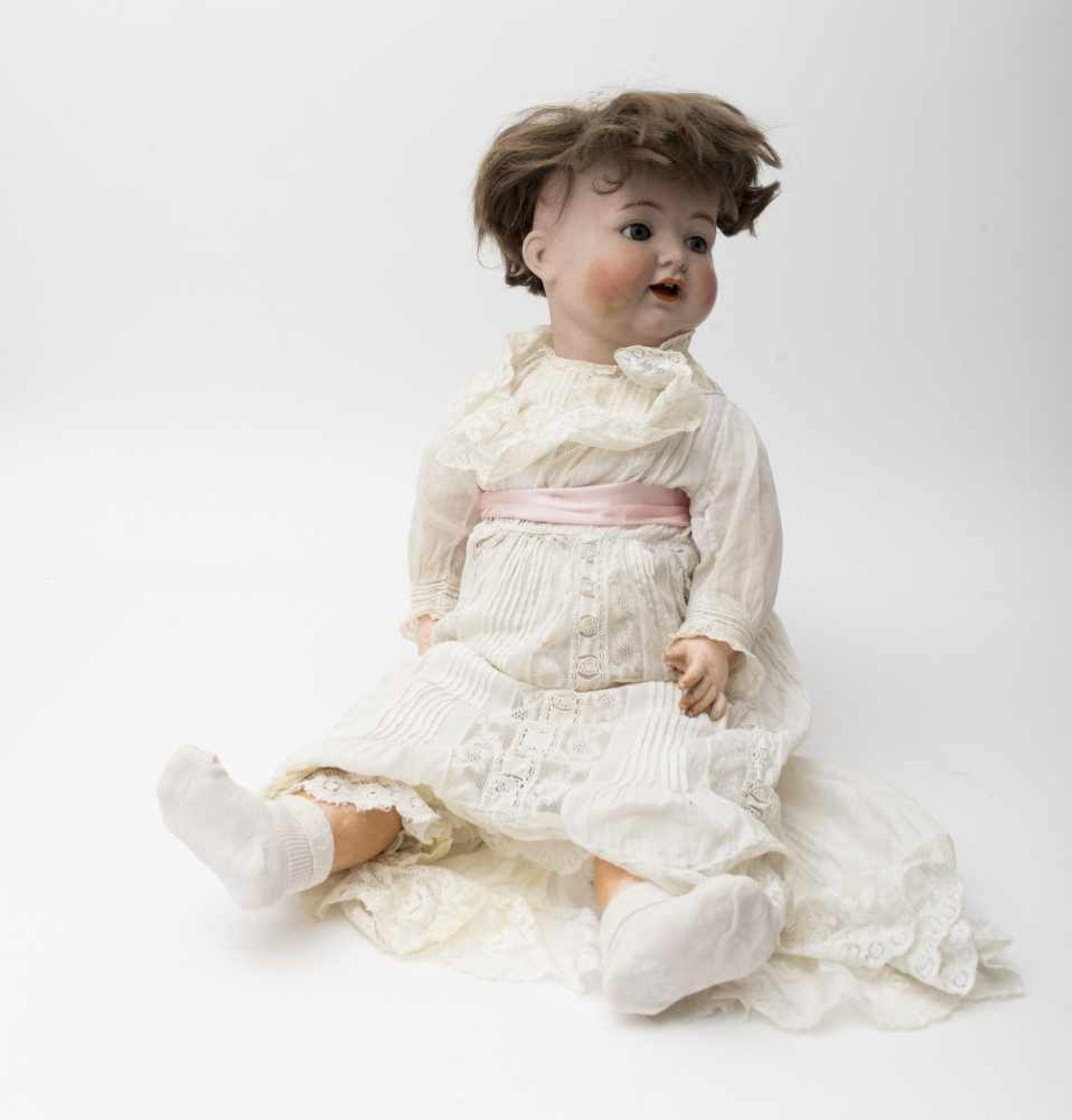 "Character baby doll ""KR SIMON HALBIG 126"" (restoration to the head), original body, H=71cm."