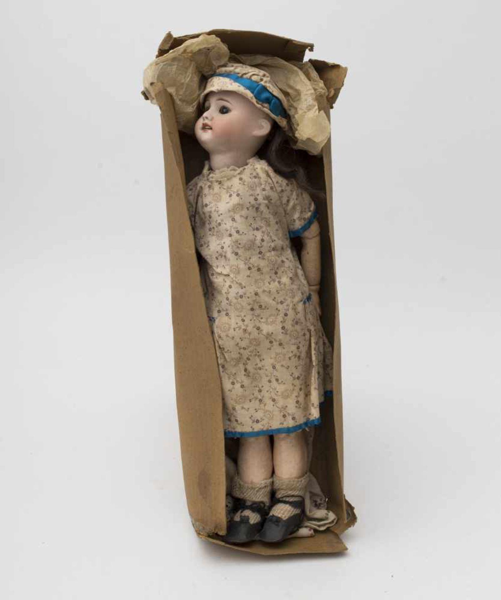 "SFBJ doll Biscuit head, open mouth, branded ""SFBJ 60 PARIS"", size 0, black sleeping eyes, original"