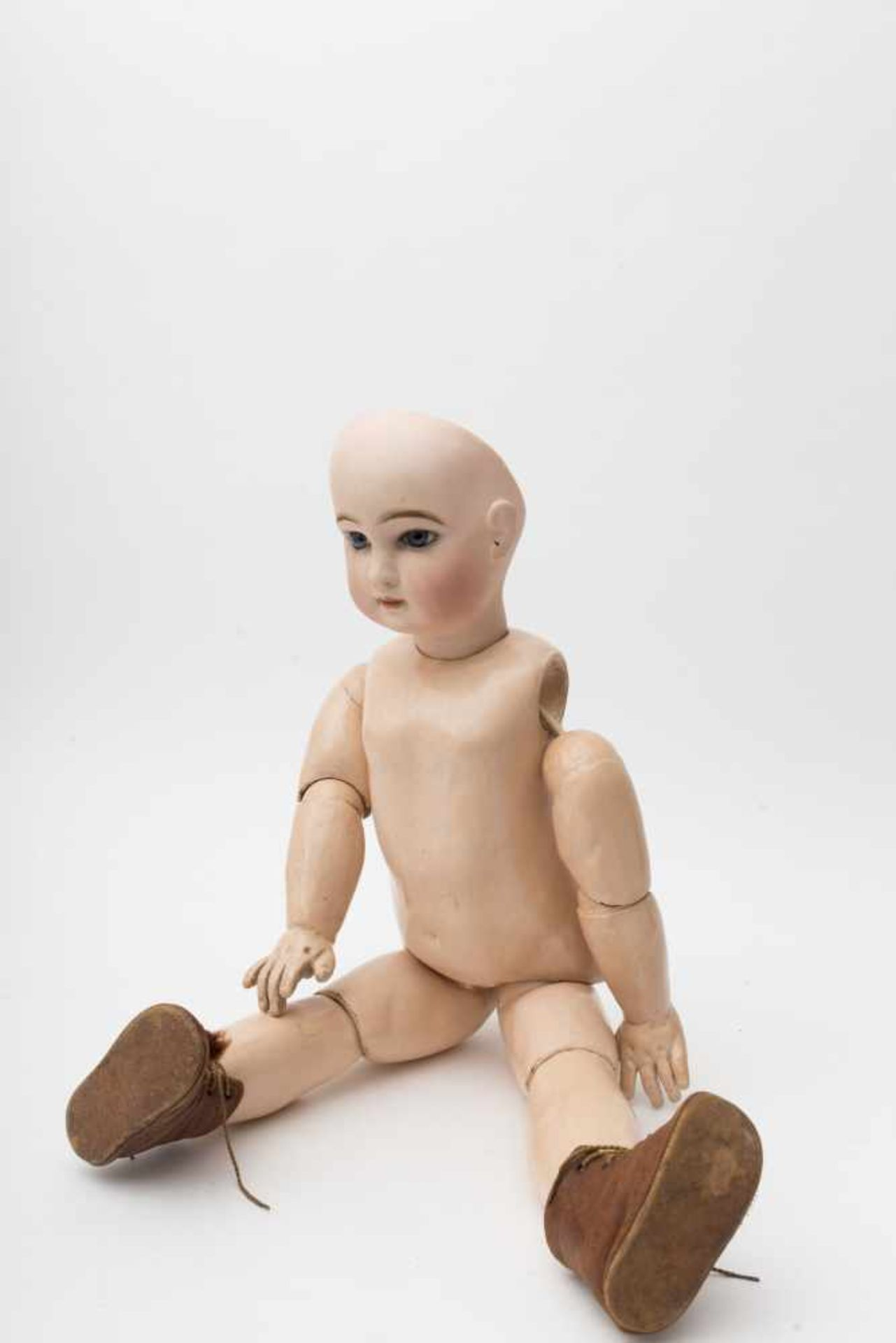 """JUMEAU baby doll With cast biscuit head, closed mouth, branded """"DEPOSE TETE JUMEAU Bvté SGDG 12"""","""