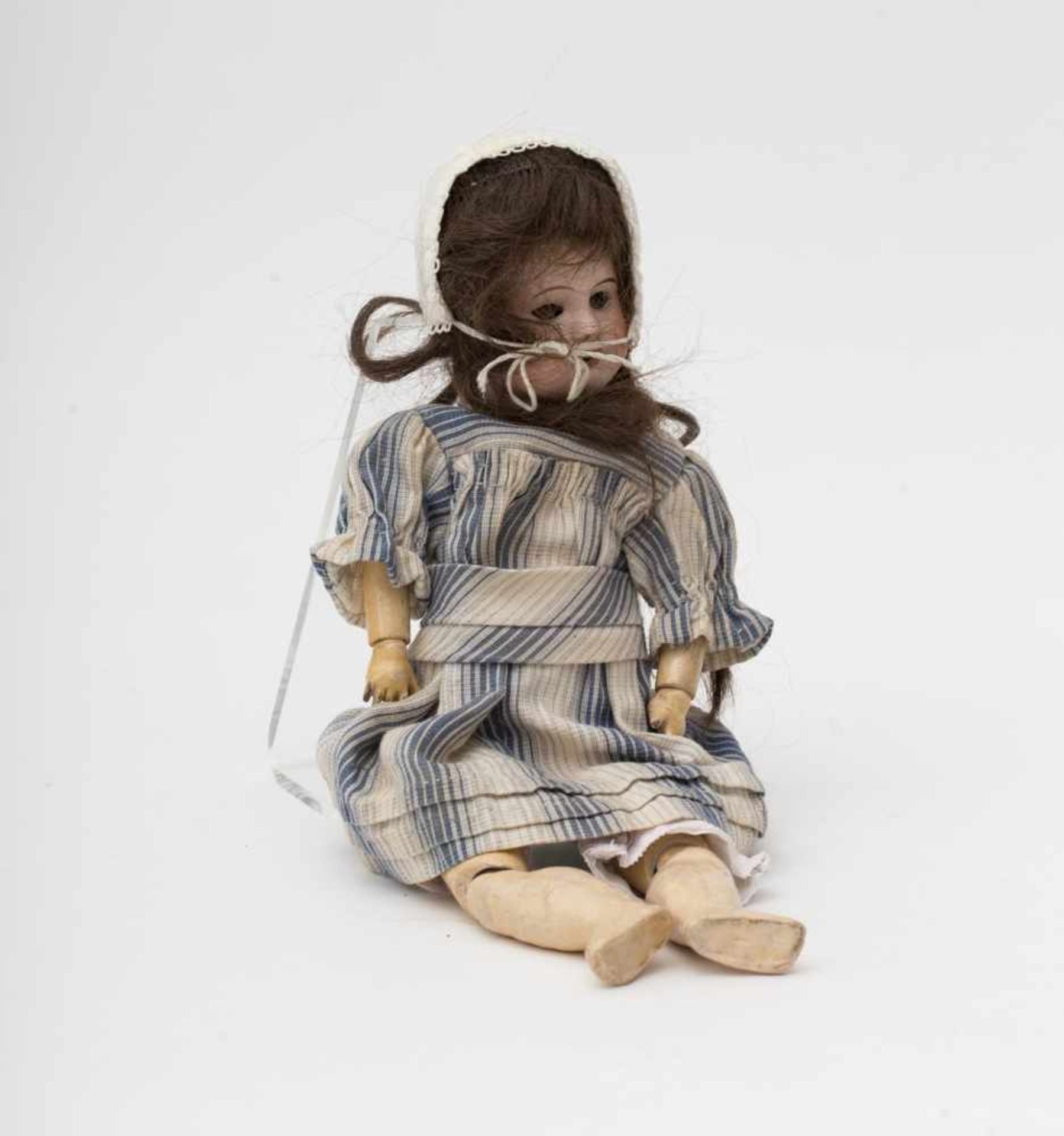 """SFBJ doll With biscuit head, open mouth, branded """"SFBJ 60 4/0"""", brown sleeping eyes, original"""