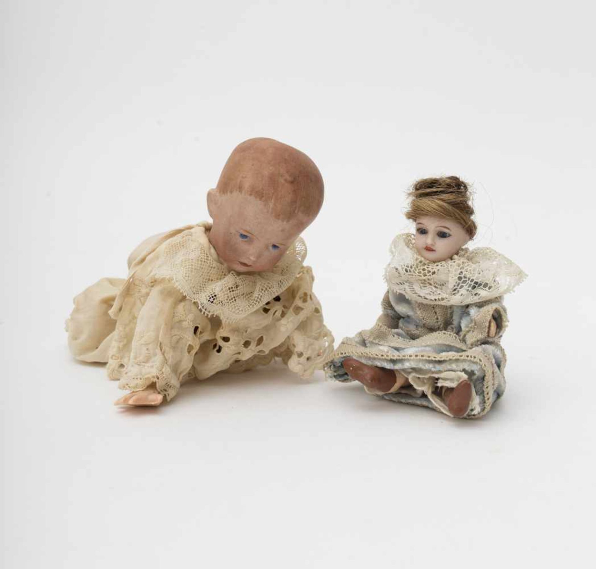 """Walking baby doll On all fours, biscuit head, German make, branded """"50- 9/0"""". SFBJ mignonette with"""
