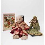 Part of a Japanese baby doll 19th century, incomplete and needs reassembling (damaged), and small