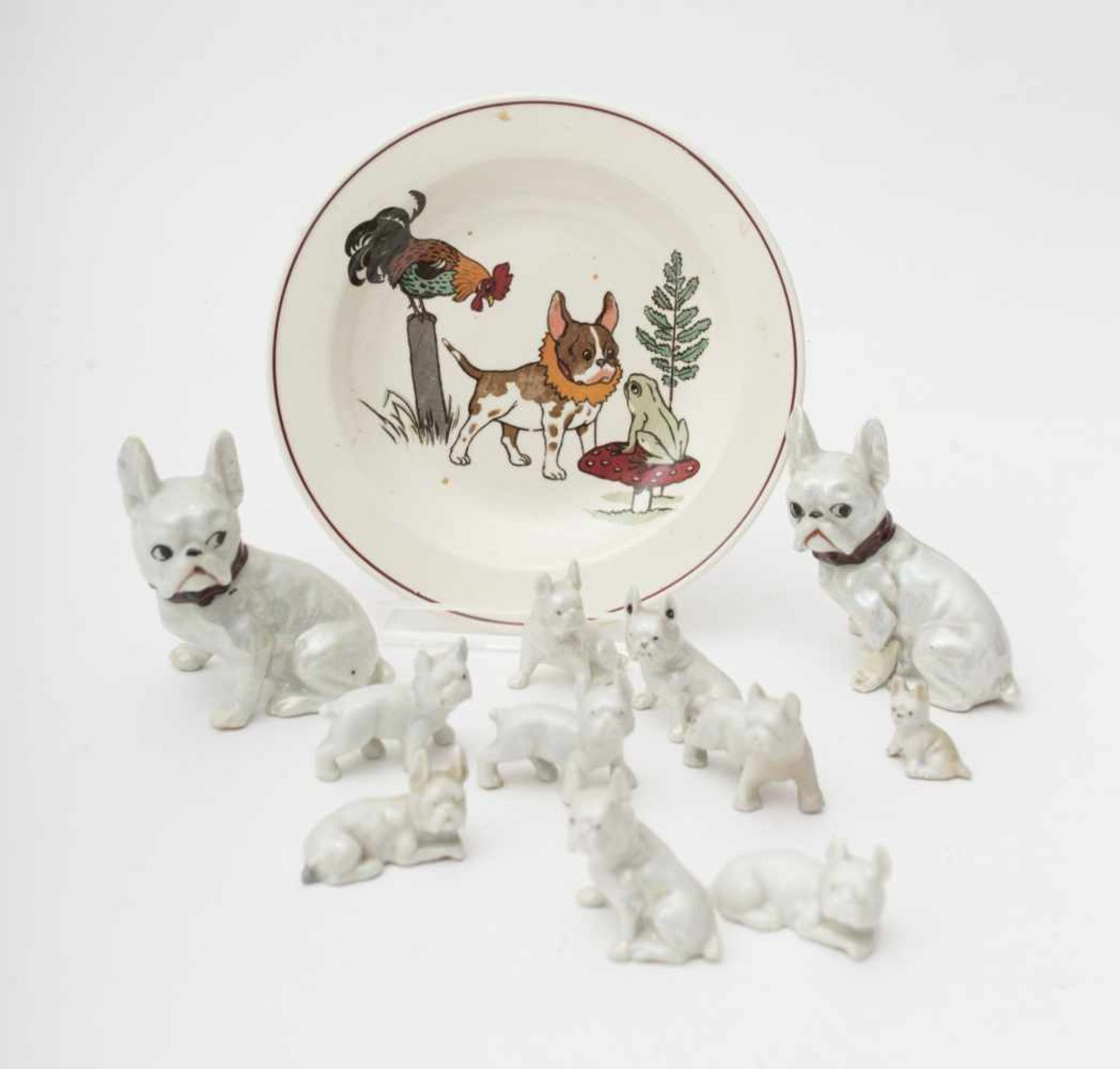 Objects of vertu Such as bulldogs – earthenware plates.