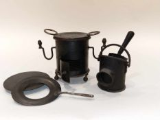 Small brazier With coal bucket and shovel.