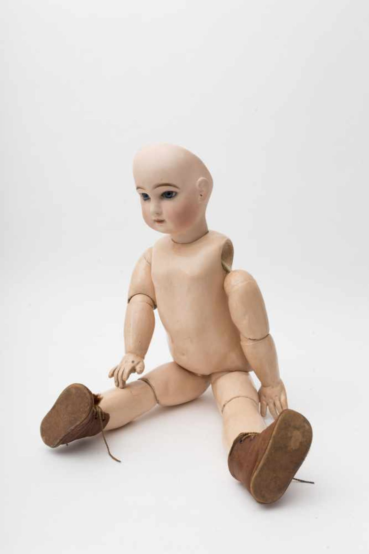 """JUMEAU baby doll With cast biscuit head, closed mouth, branded """"DEPOSE TETE JUMEAU Bvté SGDG 12"""", - Bild 3 aus 4"""