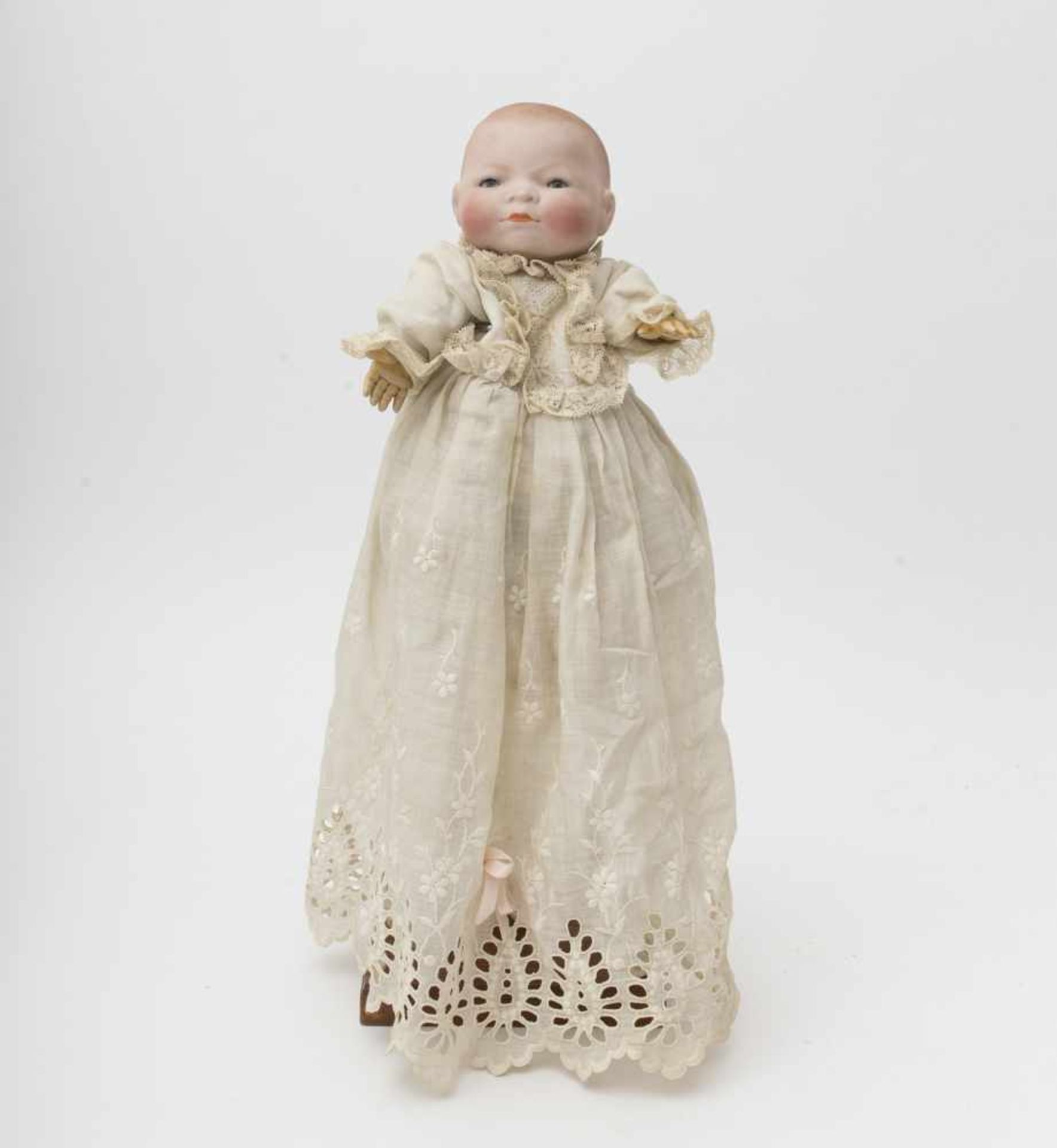 "German character baby doll Made of biscuit, closed mouth, branded ""GRACE S PUTMAN"", blue sleeping"