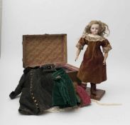 "Fashion doll SIMON & HALBIG, with biscuit head and torso, closed mouth, branded ""123/7"", non-"