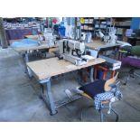 Lockstitch Buttonholing Industrial Machine. Juki LBH-783 Single Needle Lockstitch Buttonholing