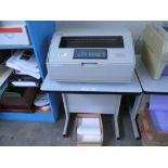 Line Matrix Printer. IBM 6400-P50 Line Matrix Printer, 500 LPM with Printer Stand. HIT# 2174252.