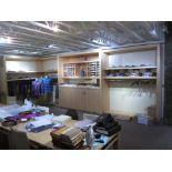 """Lighted Display Shelving. Lot: (2) Sections Lighted Display Shelving (1) 19'L x 8'L x 94""""H, (1) 16'L"""