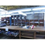Fabric Holding Wooden Bins. Lot: Qty (4) Fabric Holding Wooden Bins, (130 Total Compartments, NO