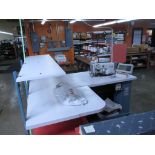 Tie Tipping Sewing Machine. AMF Reece Custom Template Tie Tipping Sewing Machine. HIT# 2174234.