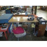 Chain Stitch Industrial Sewing Machine. Singer 240K12 Chain Stitch Industrial Sewing Machine with