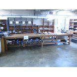 Fabric Cutting Table with Circular Knife. 16' x 4' x 3'H Fabric Cutting Table with Eastman Class 548