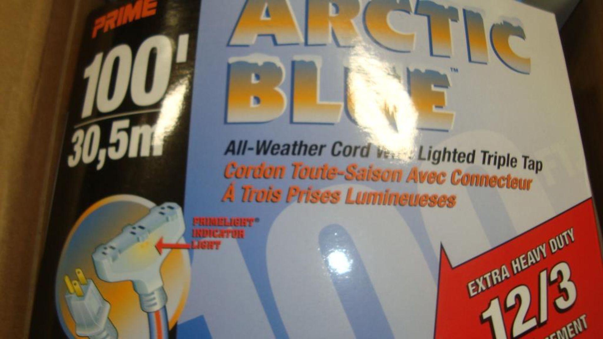 Extension Cords. Lot: 90 Total (30 Boxes - 3 ea.) Prime Wire & Cable pn# LT630835 Arctic Blue 100 - Image 6 of 9
