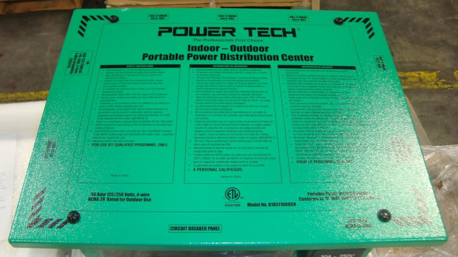 Power Distribution Center. Lot: (1 skid/24 per skid) Power Tech Model D18511000GN Indoor- Outdoor