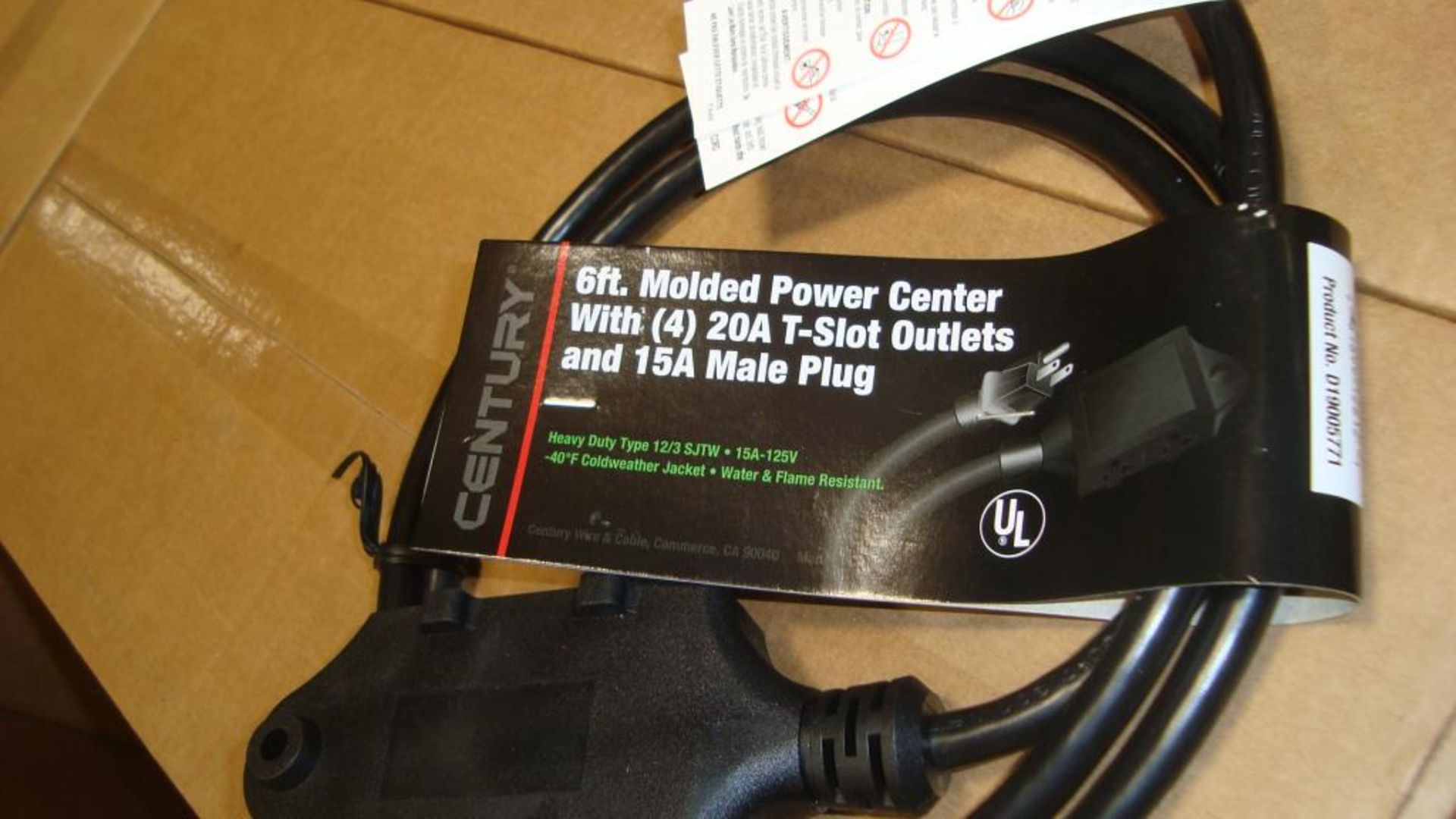 Extension Cords. Lot: 648 Total (27 Boxes - 24 ea.) Century Wire & Cable pn# D19005771 6ft Heavy - Image 2 of 9