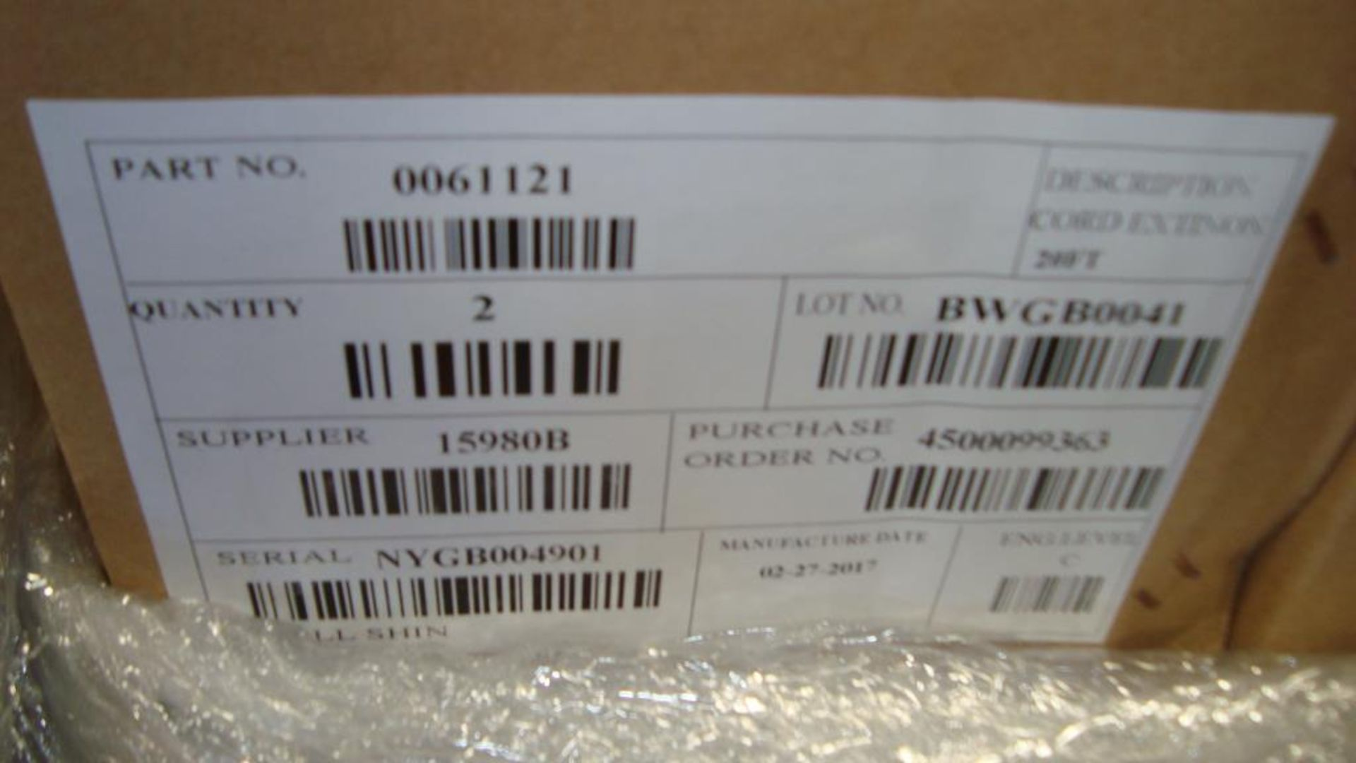 Extension Cords. Lot: 90 Total (45 Boxes - 2 ea.) Generac pn# 0061121-1 20ft, 30A Power Distribution - Image 8 of 8