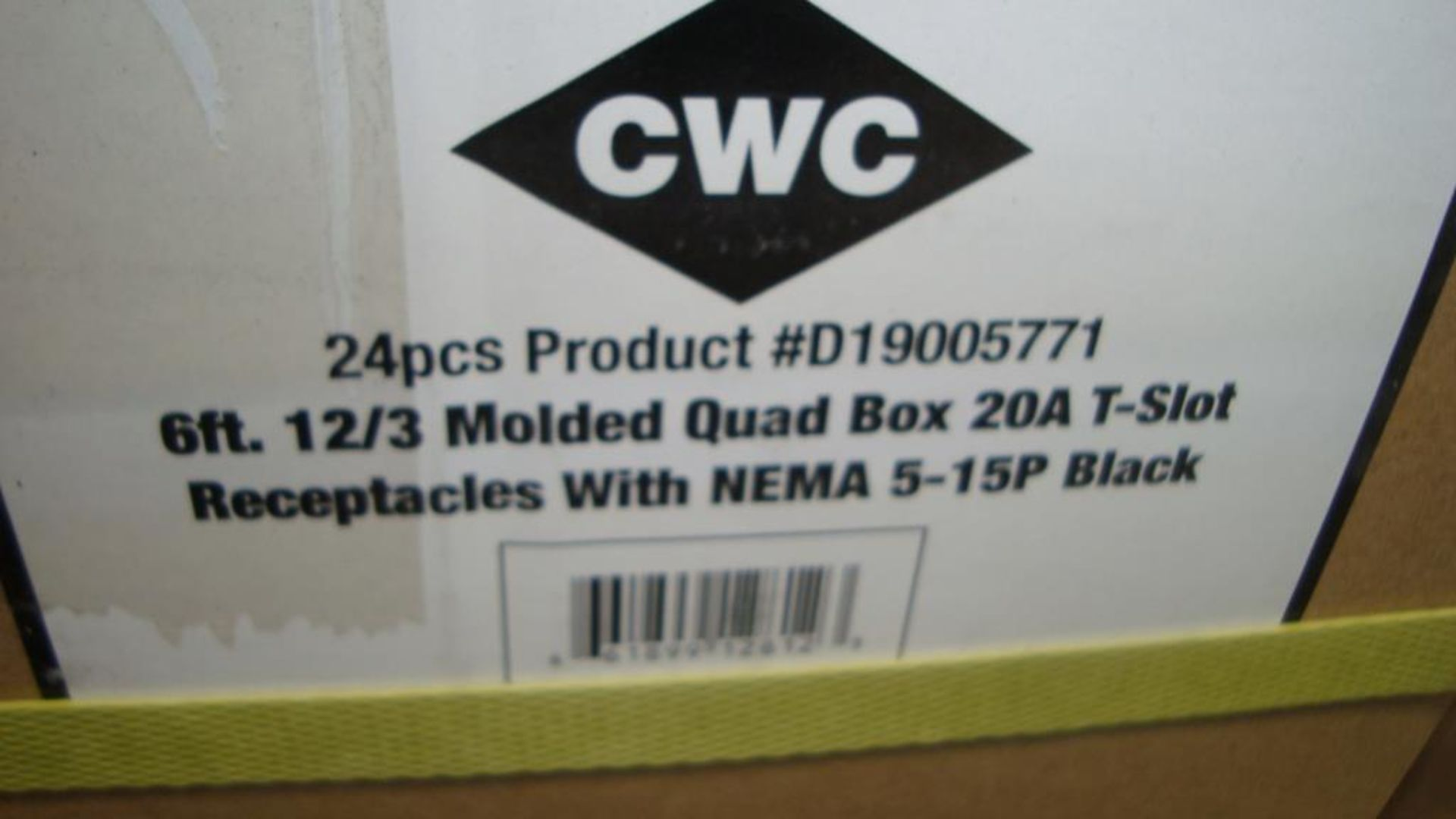 Extension Cords. Lot: 648 Total (27 Boxes - 24 ea.) Century Wire & Cable pn# D19005771 6ft Heavy - Image 7 of 9