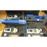 """Shimpo Monitors; lot: (4) DT-205L 6"""" wheel. (2) 205-B, Hand held battery operated microprocessor ,"""