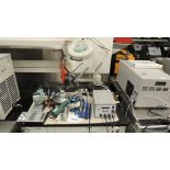 Pace MBT 350 Soldering; Lot: machine 120v w/ irons, (2) Pana vice's, (1) magnifying lamp with