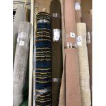 1 x Ryalux Carpet End Roll - Green/Brown 3.8x2.7m2