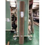 1 x Ryalux Carpet End Roll - Brown 2.2x5.0m2