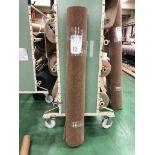1 x Ryalux Carpet End Roll - Brown 2.9x1.9m2