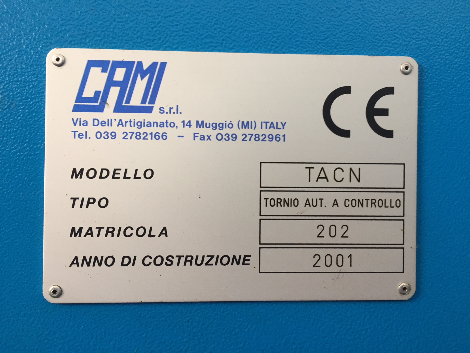 Lot 5 - Cami Model TAC 29 CNC Lathe