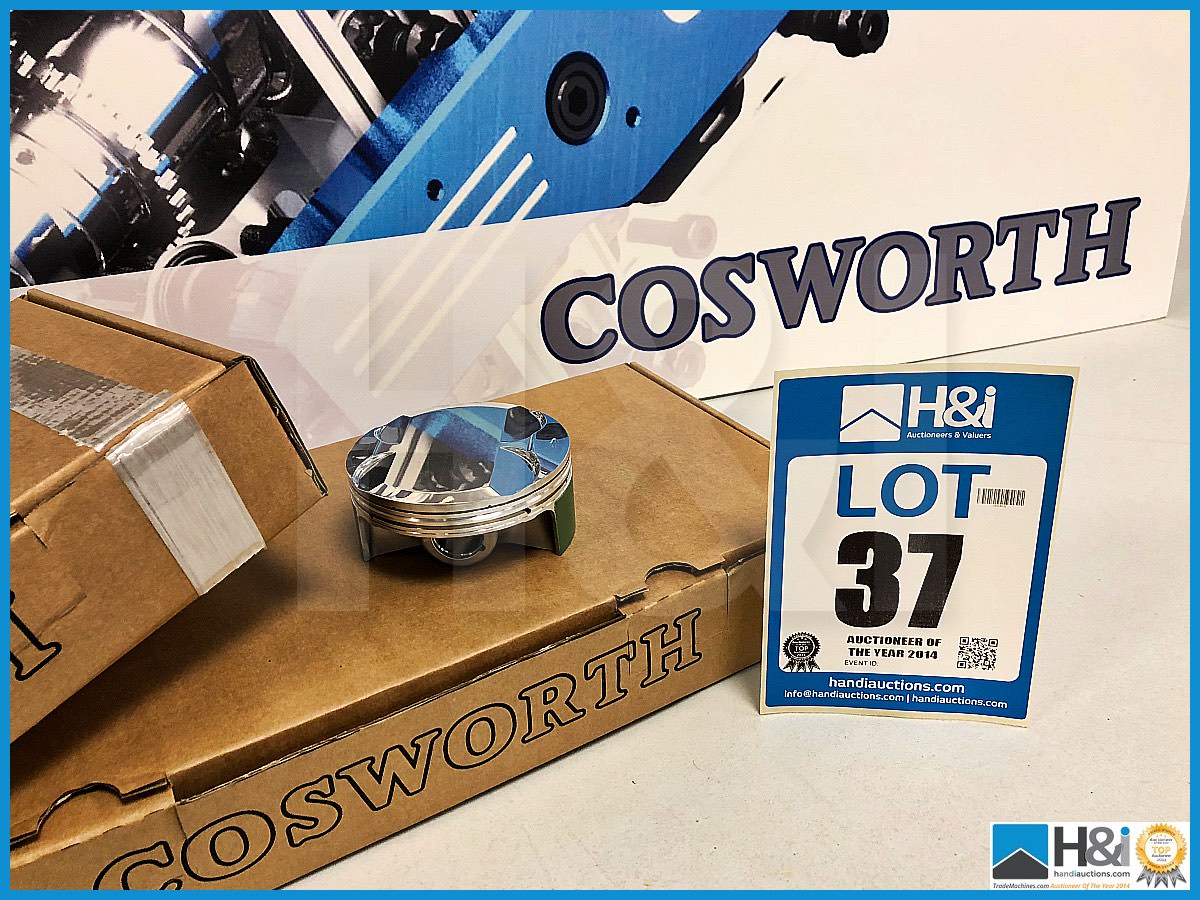 Lot 37 - 6 x Cosworth Lotus Evora GT2 GLC piston LH - CGR 16.5:1 Hi ring. Code: 20025566. Lot 313