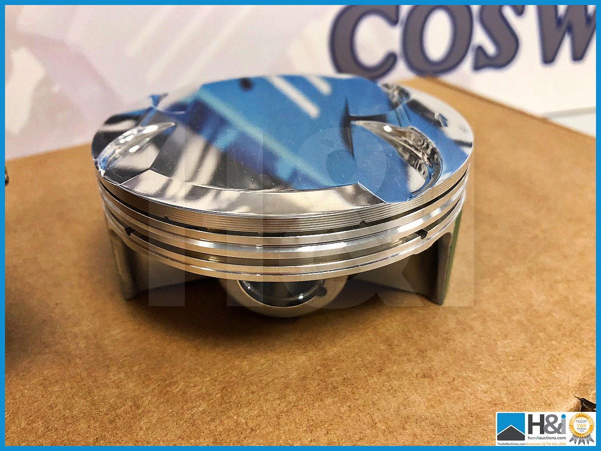Lot 37 - 6 x Cosworth Lotus Evora GT2 GLC piston LH - CGR 16.5:1 Hi ring. Code: 20025566. Lot 313