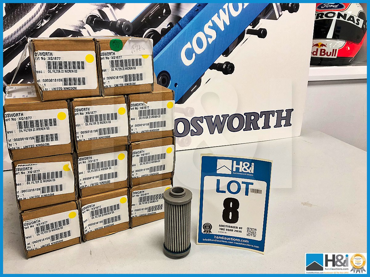 Lot 8 - 11 x Cosworth XG Indycar oil filters. 22 Micron. QG0388. Code: XG1877. Lot 271