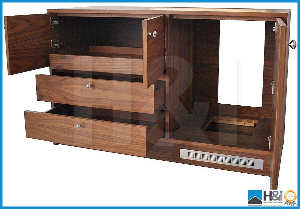 Lot 18 - Stunning black walnut bedroom furniture set comprising: 2-door wardrobe - H 193cm x W 110cm